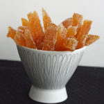 Candied Grapefruit Peel and a Give-Away Recipe