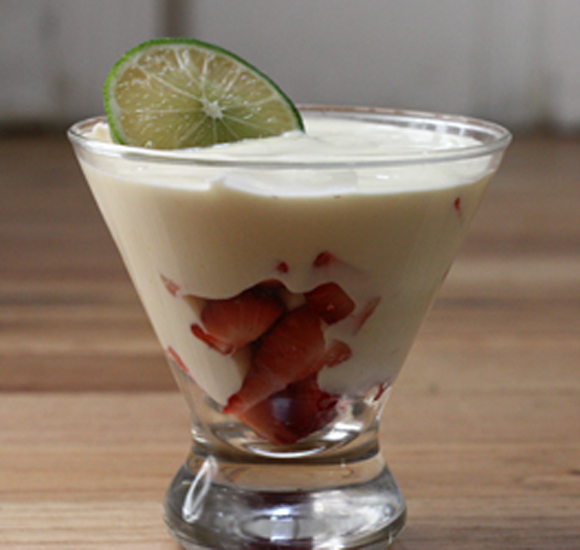 Strawberries with Key Lime Custard recipe