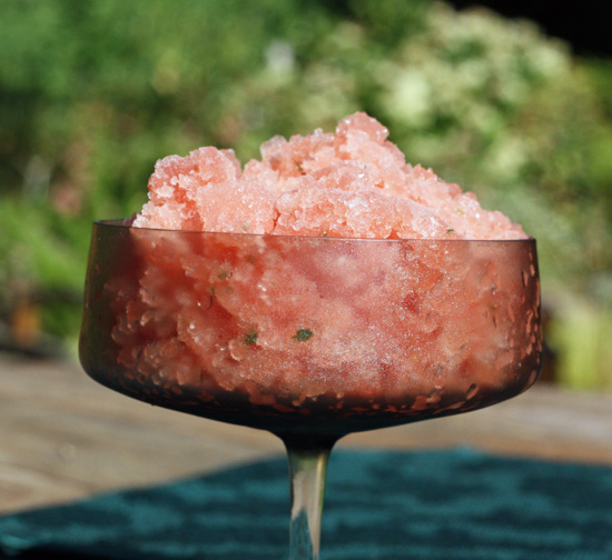 Post image for Watermelon Basil Granita