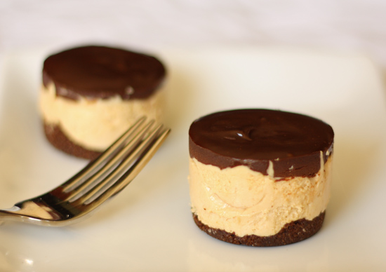 Frozen Chocolate Peanut Butter Mousse Cake