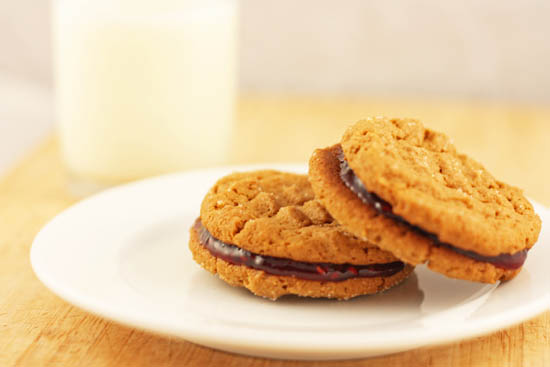 Peanut Butter and Jelly Sandwich Cookies recipe