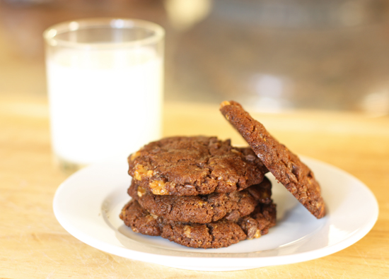 Chocolate Almond Toffee Cookies recipe