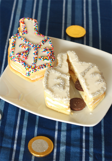Dreidel Cookies with a Surprise recipe
