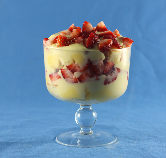 Strawberry Meyer Lemon Trifle