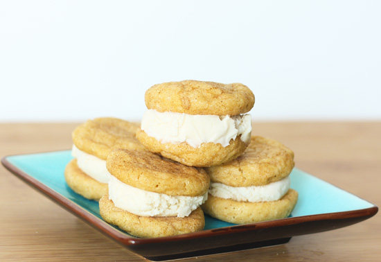 Post image for Snickerdoodle Ice Cream Sandwiches