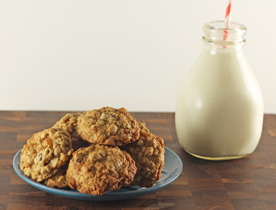 Post image for Ginger Chocolate Oatmeal Cookies