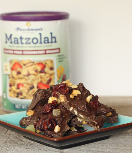 cranberry orange matzola bark