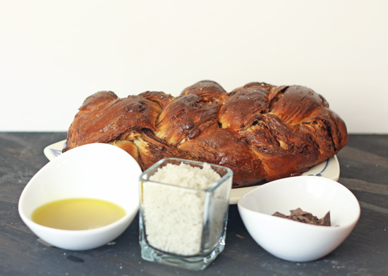 Post image for Chocolate Olive Oil Challah with Sea Salt