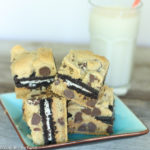 Chocolate Chip Peanut Butter Oreo Cookie Bars Recipe