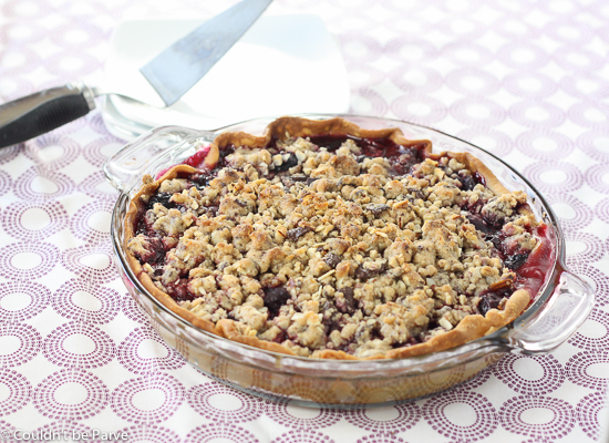 Post image for Cherry Pie with Chocolate Almond Streusel for the Pi Day of the Century