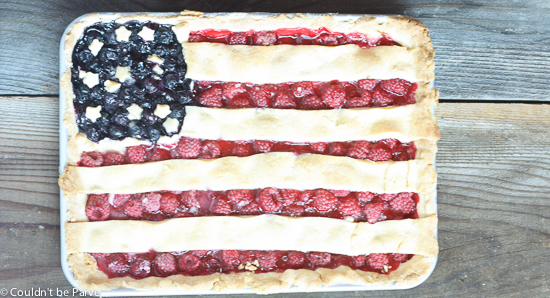 American Flag Slab Pie
