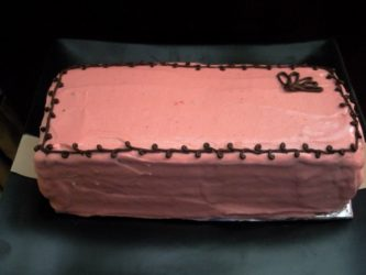 Cranberry raspberry frosting